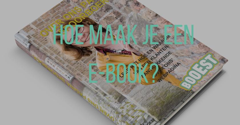 hoe maak je een ebook